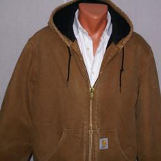 Geaca barbati CARHARTT workwear worn in / uzata marimea M / L culoarea camel, Bumbac