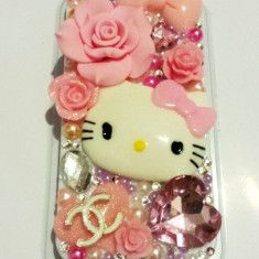Husa Hello Kitty Iphone 5 handmade. MODEL UNIC. Model nou 2015. - Husa Telefon Apple, Roz, Plastic, Carcasa