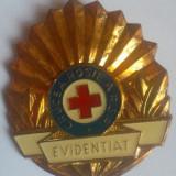 INSIGNA EVIDENTIAT IN CRUCEA ROSIE R.S.R., Romania de la 1950