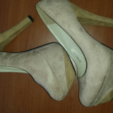Pantofi - Pantof dama, Bej