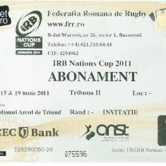 Bilet meci - Abonament turneu rugby IRB Nations Cup 2011