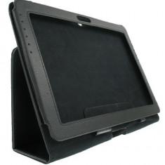 Husa piele neagra Samsung Galaxy Tab 2 10.1 00372 - Husa Tableta