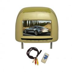 Resigilat - Tetiera cu monitor culoare bej model TTi-706 - DVD Player Portabil