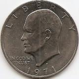"Statele Unite (SUA) 1 Dolar 1971 - ""Eisenhower Dollar"", 38.1 mm, KM-203 (4), America de Nord, An: 1971"