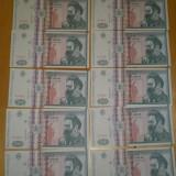 Lot 10 bancnote 500 lei 1992 UNC - serii consecutive