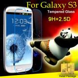 Folie protectie din sticla securizata pt Samsung Galaxy S3 9H 0.3mm 2.5D glass - Folie de protectie