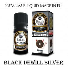Aroma de tigara electronica-Black dewill silver ( VANILIE SI CIOCOLATA) 18 % nic - Tutun Pentru tigari de foi