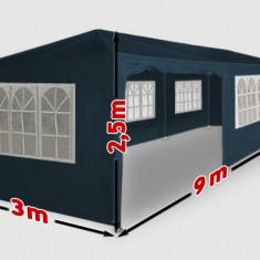 Mobila terasa gradina - Cort pentru evenimente, cort de gradina, cort petreceri 3x9 m, 9x3 m, albastru