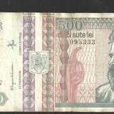 BANCNOTA 500 LEI 1992 ( BUST PROFIL FATA) CIRCULATA (serie 5333) VF
