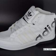 Ghete barbati Adidas, Piele sintetica - Super oferta Gheata barbateasca ADIDAS - alb cu negru