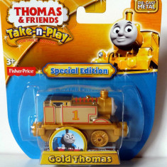 Limited ✯ Special Edition ✯ Rare Take-n-Play ✯ GOLD Thomas ✯ 70th ANNIVERSARY ✯ - Trenulet de jucarie Fisher Price, Metal, Unisex