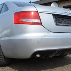 Prelungire difuzor bara spate Audi A6 C6 4F 2004 2008 Sedan S line RS6 S6 ver1 - Prelungire bara spate tuning, A6 (4F2, C6) - [2004 - 2011]