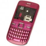 Carcasa cu tastatura Qwerty Nokia C3 4 piese Roz