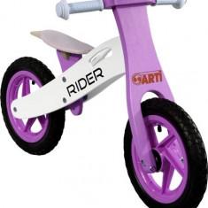 Bicicleta Fara Pedale Din Lemn Arti Roz - Bicicleta copii