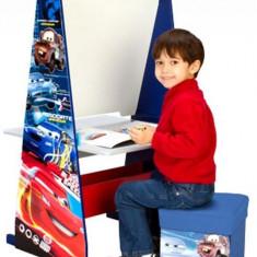 Set mobila copii - Set 3 In 1 Sevalet Si Birou Cu Taburet Disney Cars