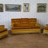 REDUCERE 20%. Salon stil Empire, canapea cu 2 fotolii