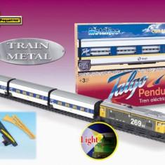 Trenulet Electric Calatori Talgo Pendular 200, Cu Macaz - Trenulet de jucarie Pequetren
