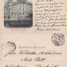 Oradea -Palatul de Justitie- clasica - Carte Postala Crisana pana la 1904, Circulata, Printata