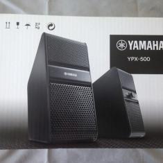 Boxe Yamaha, Boxe Multimedia, 0-40W - Boxe active pentru TV, PC, smartphone, tablete Yamaha YPX-500 black, noi, sigilate
