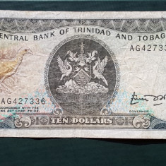 Trinidad Tobago 10 Dollars ND (1985) P#38a - bancnota america