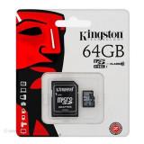 MICRO SD CARD 64GB CLASS 10 ADAPTOR KINGSTON - Card memorie