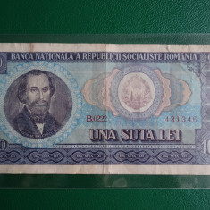 Bancnote Romanesti, An: 1974 - Bancnota 100 lei 1966 - Romania