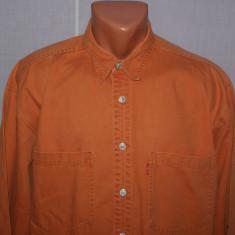Camasa barbati LEVIS din blugi marimea L culoarea orange - caramiziu, Marime: L, Maneca lunga