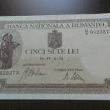 500 lei aprilie 1941 UNC-serii consecutive- filigram orizontal