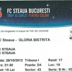 Bilet meci Steaua - Gloria Bistrita (2012)