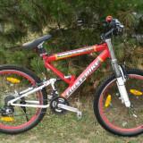 Bicicleta Mountain Bike Nespecificat, 18 inch, 26 inch, Numar viteze: 21, Aluminiu, Rosu
