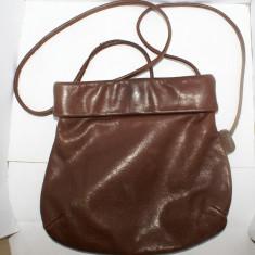 Geanta dama mica BREE autentica din piele maro foarte moale stil pusculita - Geanta vintage