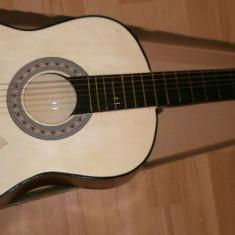 Chitara clasica incepatori cu corzi de metal si pana culoare natur