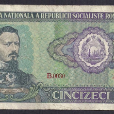 Bancnote Romanesti, An: 1966 - ROMANIA 50 LEI 1966 [3] P-96a