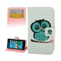 Husa piele Nokia Lumia 520 Sleeping Owl