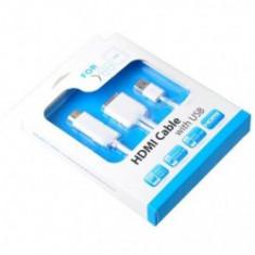 Cablu PC - Cablu HDMI cu USB pentru iPad, iPhone si Ipod