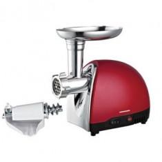 Electrocasnice - Masina de tocat Heinner Novette 3500 1200W MG1200TA culoare rosie cu accesoriu de stors rosii