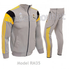 Trening ADIDAS REAL MADRID - Bluza si pantaloni conici - Modele noi Pret Special - Trening barbati, Marime: S, Culoare: Din imagine, Microfibra