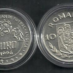 Monede Romania, An: 1996, Fier - ROMANIA 10 LEI 1996 Campionatul European de Fotbal CEF EURO '96 ANGLIA - UNC