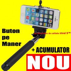 Selfie stick - SELFIE cu ACUMULATOR Monopod REINCARCABIL Negru