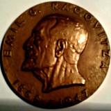 Medalii Romania, An: 1968 - MEDALIE EMIL RACOVITZA 1968 BIOSPEOLOGIE ANTARTICA EVOLUTIA BRONZ MARE MEDICINA