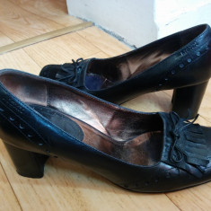 Pantofi dama, Piele naturala - Pantofi din piele firma MEXX marimea 38, arata impecabil!