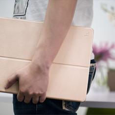 Husa tableta SLIM piele HOCO Juice originala iPAD PRO 12.9'' smart cover, AURIU