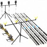 Set 4 Oxygen Select 2, 7m cu 4 SW50 cu 10 rul si bait runner, rod pod 4 full - Lanseta