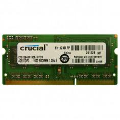 DDR3 SODIMM Crucial 4GB 1600MHz CL11 1.35V - Memorie RAM