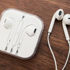 Casti Earpods Headset iPhone 6 6 Plus Originale Apple Sigilate Nou Headphones - Casti Telefon Apple, Alb