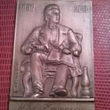 MIHAI EMINESCU 1850-1889 , MEDALIE PLACHETA 1850 -2010 , Gravor C Dumitrescu