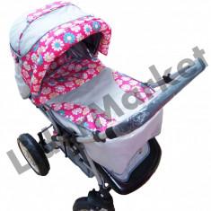 Carucior copii Sport - Carucior cu maner pliabil si suport de pahare pentru copii