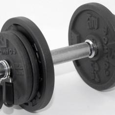 Gantera reglabila 10 kg - ax si discuri metalice - NOUA