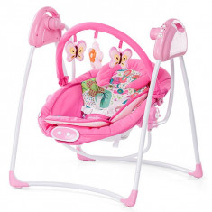 Set mobila copii - Leagan Electric Si Balansoar Chipolino Paradise Pink