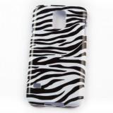 Husa Telefon - Husa Samsung Galaxy S5 I9600 G900 Black And White Silicon